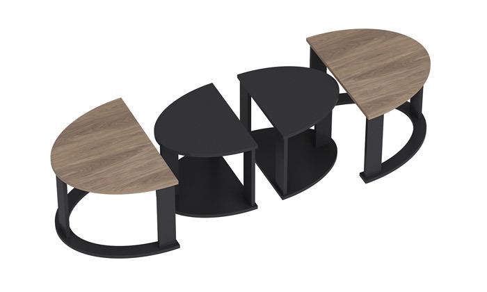 5 שולחן סלון אובלי TUDO DESIGN