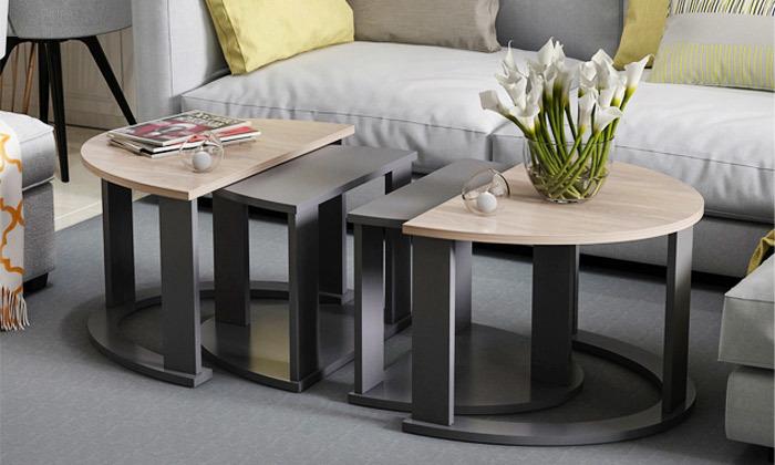 2 שולחן סלון אובלי TUDO DESIGN