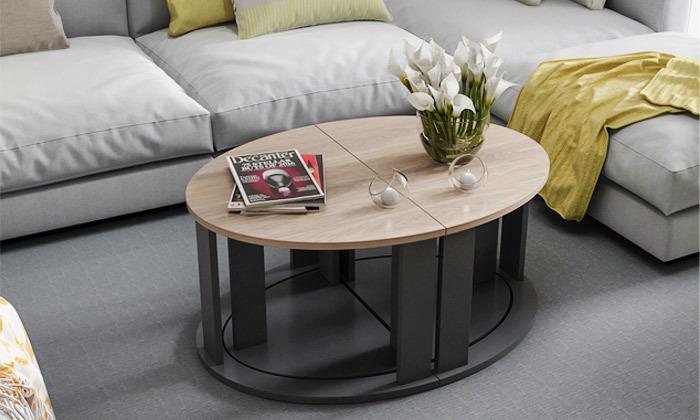 10 שולחן סלון אובלי TUDO DESIGN