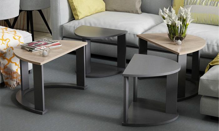 9 שולחן סלון אובלי TUDO DESIGN