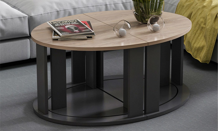 8 שולחן סלון אובלי TUDO DESIGN