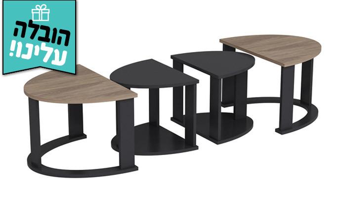 6 שולחן סלון אובלי TUDO DESIGN - משלוח חינם