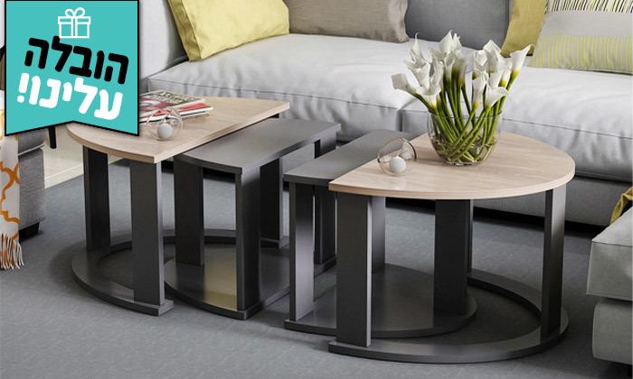 2 שולחן סלון אובלי TUDO DESIGN - משלוח חינם
