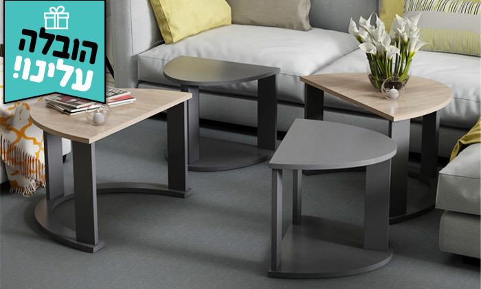 9 שולחן סלון אובלי TUDO DESIGN - משלוח חינם