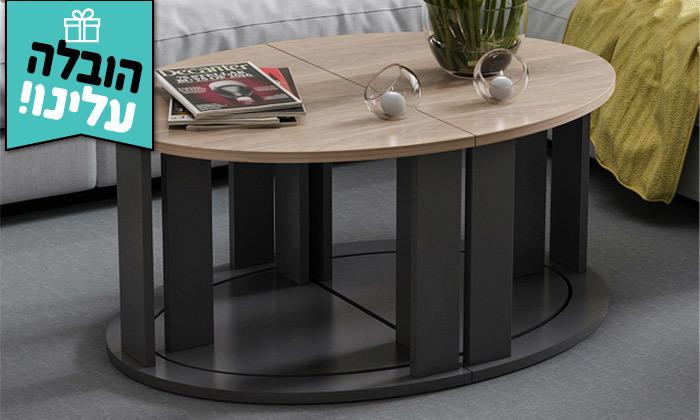 8 שולחן סלון אובלי TUDO DESIGN - משלוח חינם
