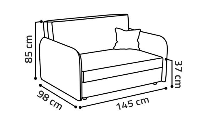 4 ספה נפתחת למיטה HOME DECOR