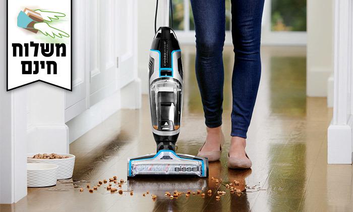 3 שואב אבק ושוטף רצפות Bissell - משלוח חינם