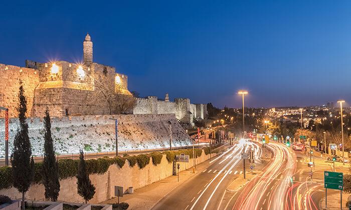 """8 חופשה אורבנית בירושלים, כולל סופ""""ש"""