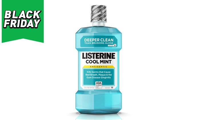 3 מארז 6 בקבוקים לשטיפת פה ליסטרין Listerine - משלוח חינם