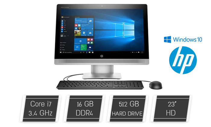 2 מחשב נייח HP AIO, מעבד i7