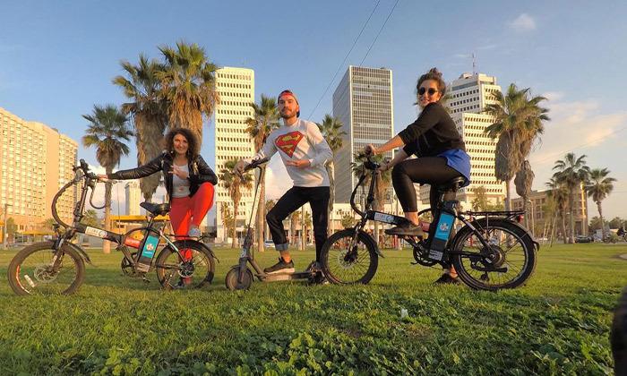 2 השכרת אופניים חשמליים ואופני עיר עם פול פוזישן, תל אביב