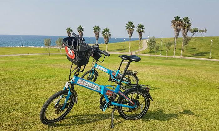 5 השכרת אופניים חשמליים ואופני עיר עם פול פוזישן, תל אביב