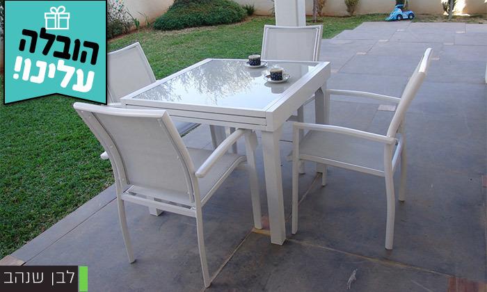 """3 סט שולחן נפתח ל-180 ס""""מ ו-4/6/8 כיסאות לגינה SCAB - משלוח חינם"""