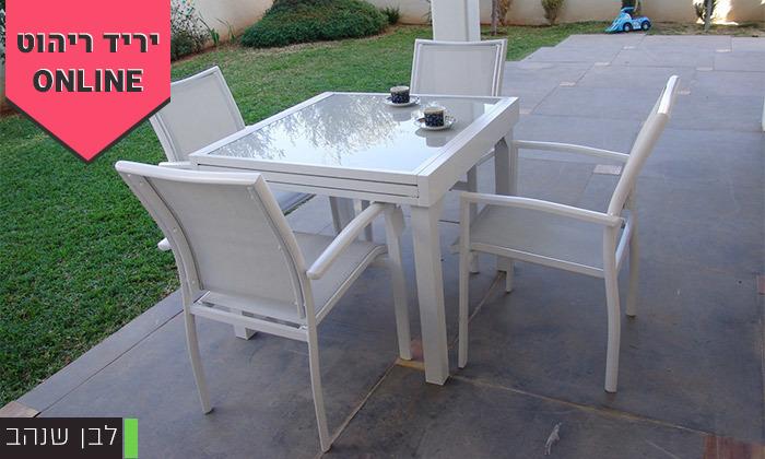 """3 סט שולחן נפתח ל-180 ס""""מ ו-4/6/8 כיסאות לגינה SCAB"""