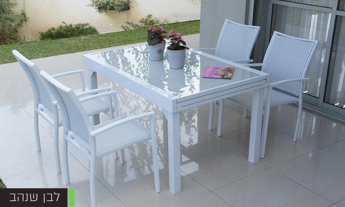 """3 שולחן נפתח ל-270 ס""""מ עם 4/6/8 כיסאות לגינה SCAB"""