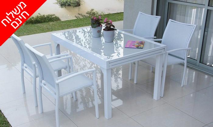 """6 שולחן נפתח ל-270 ס""""מ עם 4/6/8 כיסאות לגינה SCAB - משלוח חינם"""