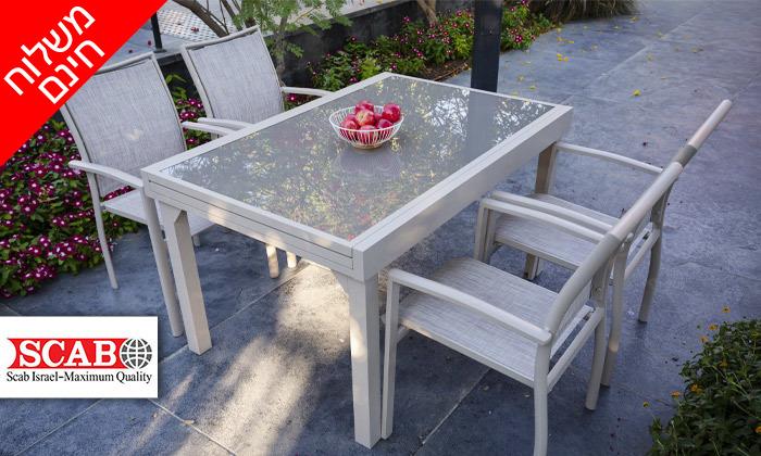 """2 שולחן נפתח ל-270 ס""""מ עם 4/6/8 כיסאות לגינה SCAB - משלוח חינם"""