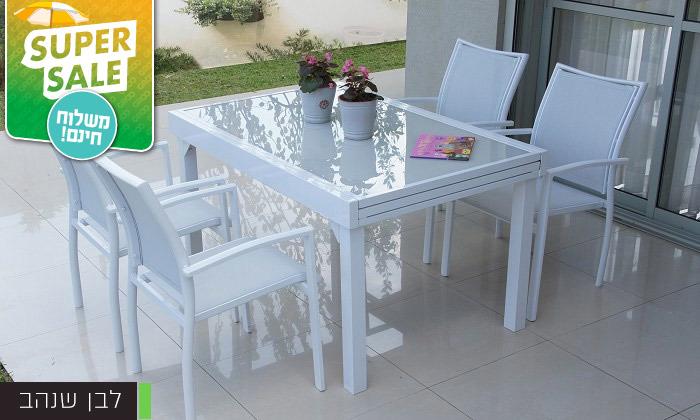 """3 שולחן נפתח ל-270 ס""""מ עם 4/6/8 כיסאות לגינה SCAB - משלוח חינם"""