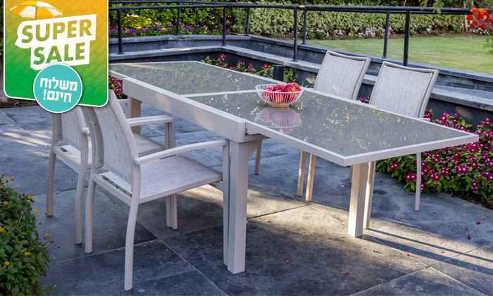 """5 שולחן נפתח ל-270 ס""""מ עם 4/6/8 כיסאות לגינה SCAB - משלוח חינם"""
