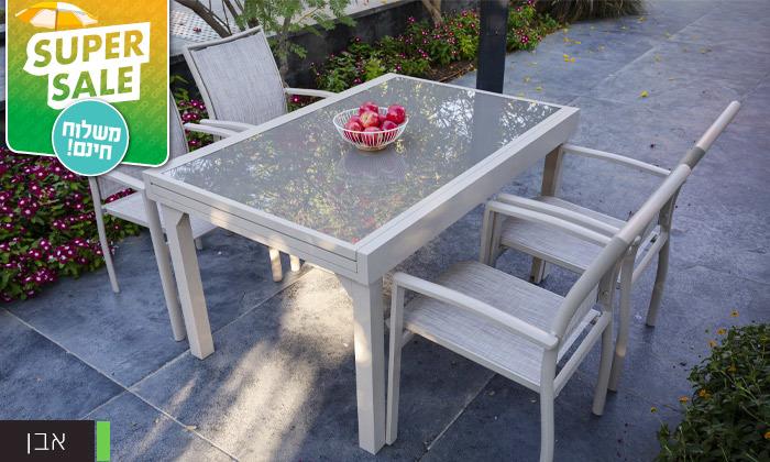 """4 שולחן נפתח ל-270 ס""""מ עם 4/6/8 כיסאות לגינה SCAB - משלוח חינם"""