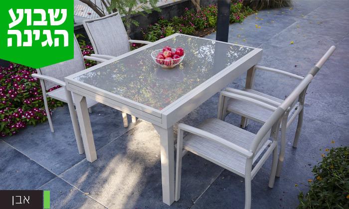 """4 שולחן נפתח ל-270 ס""""מ עם 4/6/8 כיסאות לגינה SCAB"""