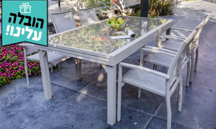 """7 שולחן נפתח ל-320 ס""""מ עם 4/6/8 כיסאות לגינה SCAB - משלוח חינם"""