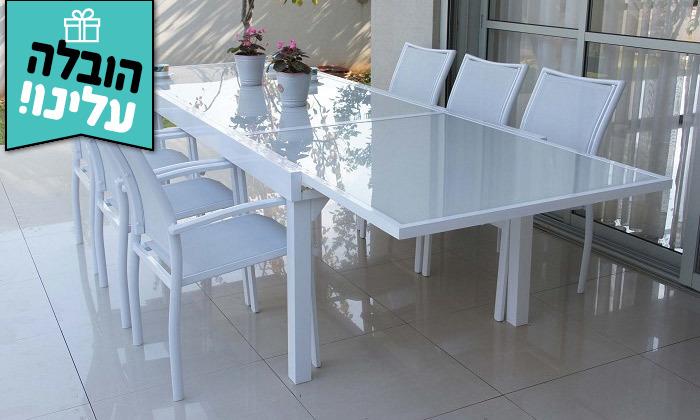 """6 שולחן נפתח ל-320 ס""""מ עם 4/6/8 כיסאות לגינה SCAB - משלוח חינם"""