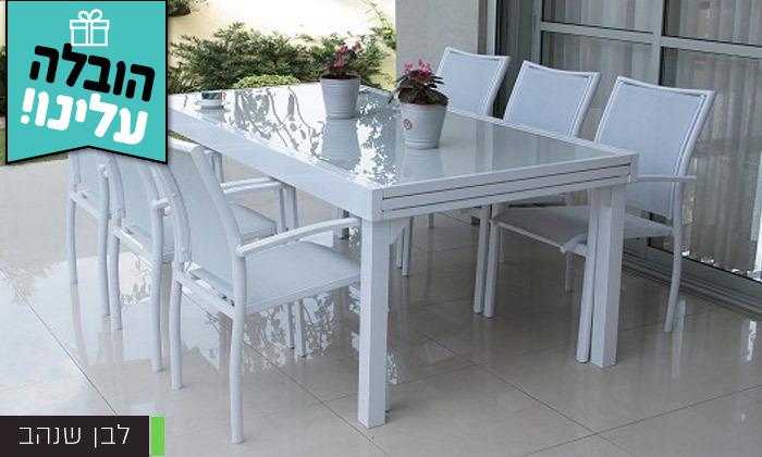 """4 שולחן נפתח ל-320 ס""""מ עם 4/6/8 כיסאות לגינה SCAB - משלוח חינם"""
