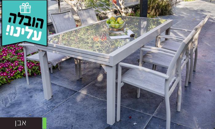 """3 שולחן נפתח ל-320 ס""""מ עם 4/6/8 כיסאות לגינה SCAB - משלוח חינם"""