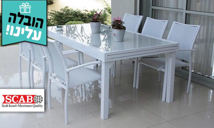 """2 שולחן נפתח ל-320 ס""""מ עם 4/6/8 כיסאות לגינה SCAB - משלוח חינם"""