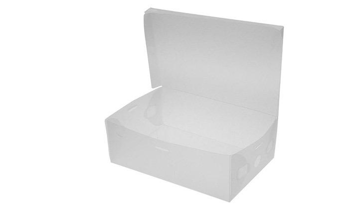 4 קופסאות שקופות לאחסון נעליים