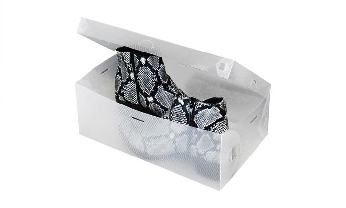 7 קופסאות שקופות לאחסון נעליים