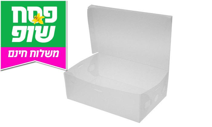 4 קופסאות שקופות לאחסון נעליים - משלוח חינם