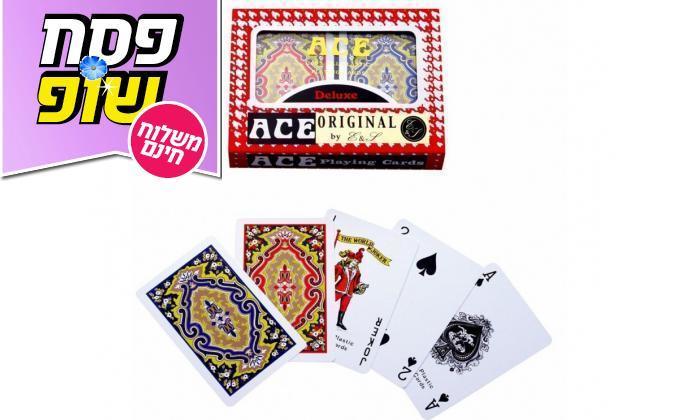 3 מארז משחקים - דמקה, שש בש, דומינו וקלפים - משלוח חינם