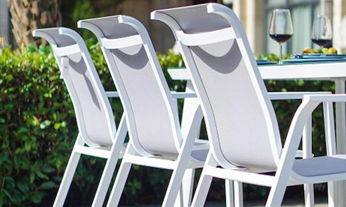 5 סט שולחן מלבני ו-4/6/8 כיסאות לגינה SCAB