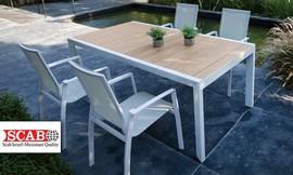 פינת אוכל עם 4 כיסאות לגינה