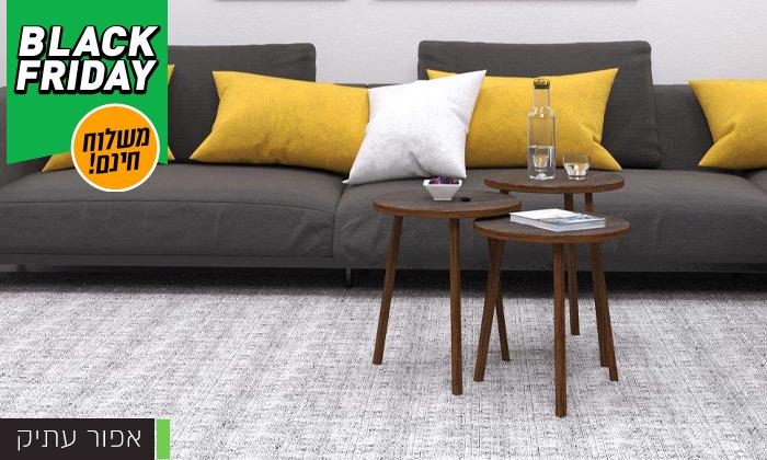 7 שלישיית שולחנות סלון דגם סרגוסה במגוון צבעים לבחירה - משלוח חינם