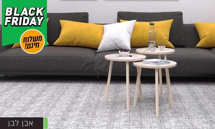 10 שלישיית שולחנות סלון דגם סרגוסה במגוון צבעים לבחירה - משלוח חינם