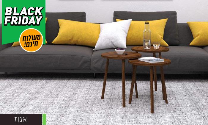 12 שלישיית שולחנות סלון דגם סרגוסה במגוון צבעים לבחירה - משלוח חינם