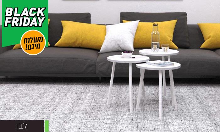 13 שלישיית שולחנות סלון דגם סרגוסה במגוון צבעים לבחירה - משלוח חינם