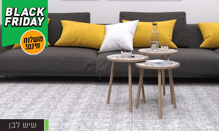 14 שלישיית שולחנות סלון דגם סרגוסה במגוון צבעים לבחירה - משלוח חינם
