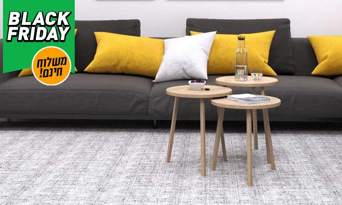 3 שלישיית שולחנות סלון דגם סרגוסה במגוון צבעים לבחירה - משלוח חינם