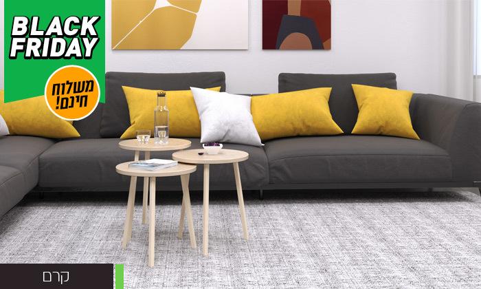 15 שלישיית שולחנות סלון דגם סרגוסה במגוון צבעים לבחירה - משלוח חינם