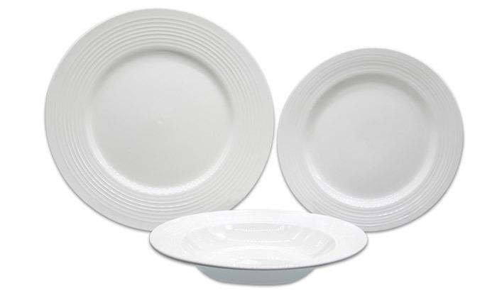 2 סט כלי אוכל פורצלן 18 חלקיםLa Kitchenette