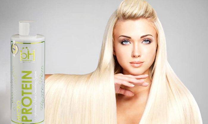2 בקבוק החלקת שיער ביתית אורגנית pH MICRO PROTEIN