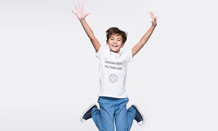 9 טי שרט לילדים עם הדפס - 'חולצת קורונה'