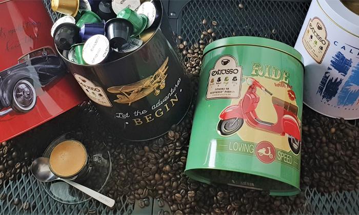 2 500 קפסולות קפה Extrasso באריזת פח