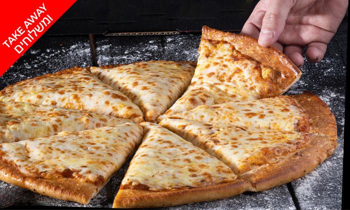 5 פיצה משפחתית כשרה למהדרין - משלוח עד הבית מסניפי רשת פיצה שמש