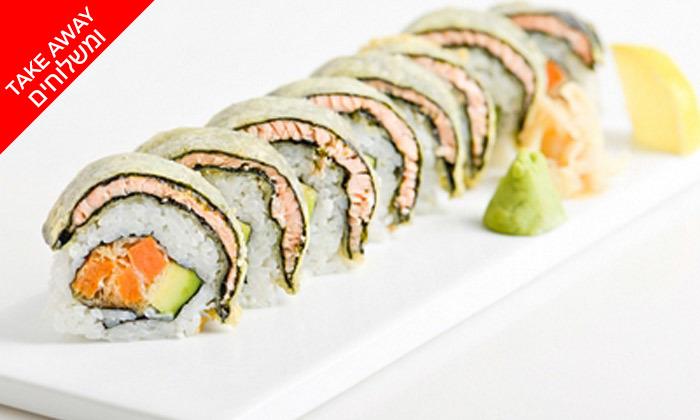 6 מגש סושי בטייק אוויי או משלוח ממסעדת יוקו סושי, תל אביב