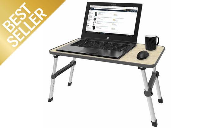 2 שולחן לפטופ רב תכליתיעם מאוורר - משלוח חינם